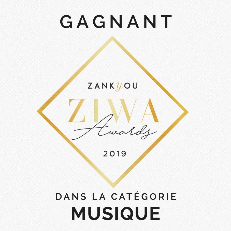 Prix dans la catégorie musique Zankyou ZIWA Awards 2019