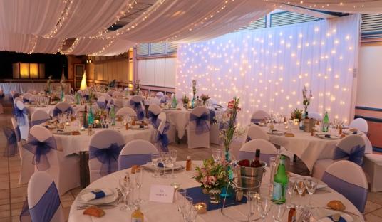 Photo d'une réception à un mariage organisé par l'agence événementielle