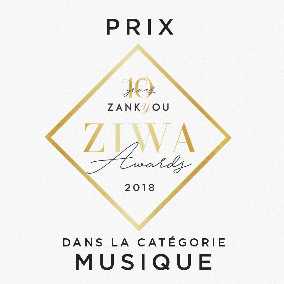 Prix dans la catégorie musique Zankyou ZIWA Awards 2020