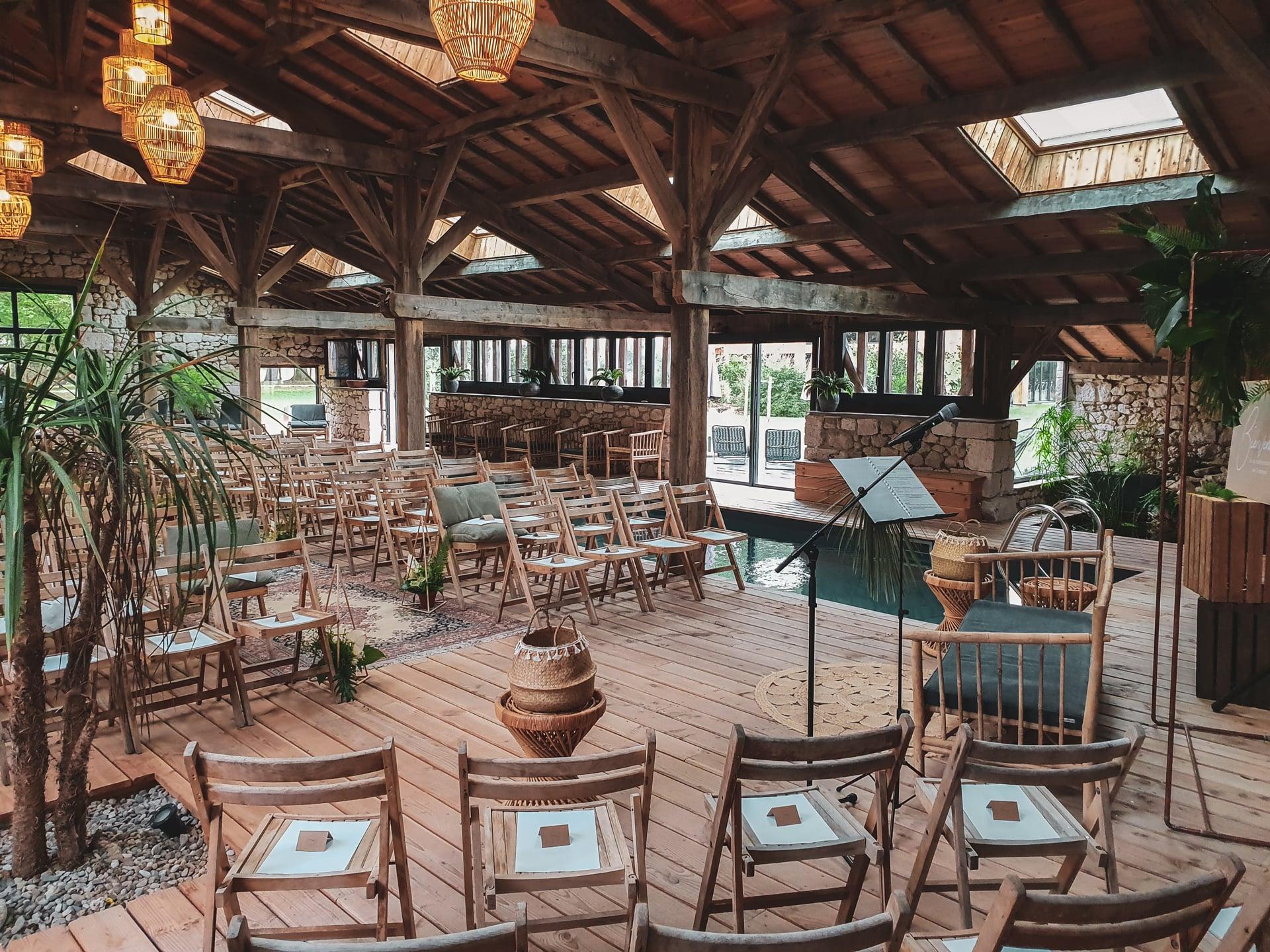 Photo d'un lieu de réception d'un mariage organisé par l'Agence Amoren